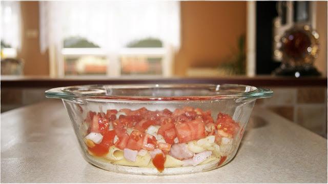 zapiekanka z fasolki szparagowej i szynki